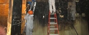 Water damage Freeport inspecting water leaks