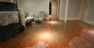 Flooded Living Room Space